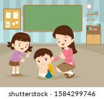 sad children wants to embrace...   Shutterstock .eps vector #1584299746
