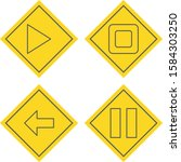 set of 4 basic elements icons...