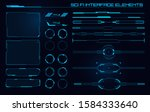 set of sci fi modern user... | Shutterstock .eps vector #1584333640
