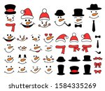 Cute Snowman Faces And...