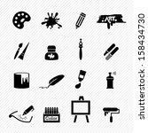 art icons vector | Shutterstock .eps vector #158434730