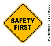 large beveled yellow safety...   Shutterstock . vector #158435090