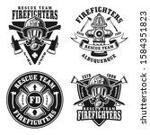 fire department set of four... | Shutterstock .eps vector #1584351823