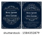 vector set of invitation cards... | Shutterstock .eps vector #1584352879