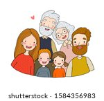 happy family. parents with... | Shutterstock .eps vector #1584356983