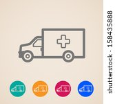 vector ambulance car icons | Shutterstock .eps vector #158435888