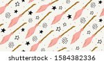 witch seamless pattern.... | Shutterstock .eps vector #1584382336