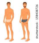illustration of a handsome... | Shutterstock .eps vector #158438726