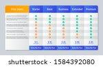 price comparison table. vector. ...