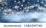 christmas landscape with... | Shutterstock .eps vector #1584395740