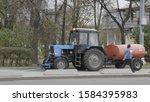 moscow   october 05  watering... | Shutterstock . vector #1584395983