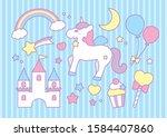 fairy tale girly cute objects...   Shutterstock .eps vector #1584407860