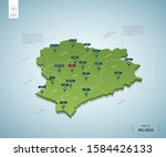 stylized map of belarus.... | Shutterstock .eps vector #1584426133