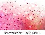 hearts background. | Shutterstock . vector #158443418