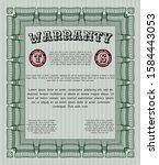 green formal warranty...   Shutterstock .eps vector #1584443053