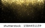 gold glitter particles falling  ... | Shutterstock . vector #1584451159