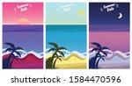 Summer Beach Landscape At...