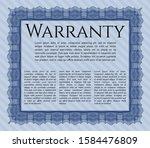 blue warranty template....   Shutterstock .eps vector #1584476809