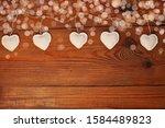 Eco Linen Fabric Hearts On...