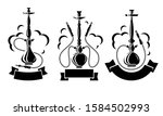 hookah set. collection icons... | Shutterstock .eps vector #1584502993