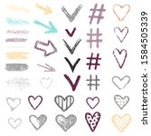 set chalk vector textures.... | Shutterstock .eps vector #1584505339