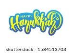 hand drawn happy hanukka... | Shutterstock .eps vector #1584513703