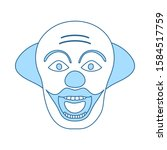 party clown face icon. thin...