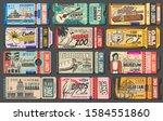 retro ticket vector templates... | Shutterstock .eps vector #1584551860