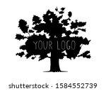 realistic black tree silhouette ... | Shutterstock .eps vector #1584552739