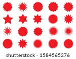set of red star or sun shaped... | Shutterstock .eps vector #1584565276