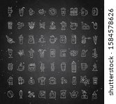 vector set of coffee icons on... | Shutterstock .eps vector #1584578626