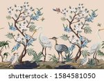 Border In Chinoiserie Style...