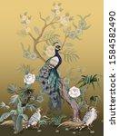 border in chinoiserie style... | Shutterstock .eps vector #1584582490