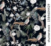 seamless pattern in chinoiserie ...   Shutterstock .eps vector #1584604429
