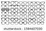 many types of glasses. fashion...   Shutterstock .eps vector #1584607030