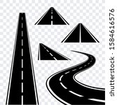 Set Of Roads Vector Stencil To...