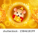 happy chinese new year 2020.... | Shutterstock .eps vector #1584618199