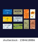 some business card collection i ... | Shutterstock .eps vector #1584618886