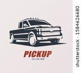 pickup car stylized vector... | Shutterstock .eps vector #1584626680