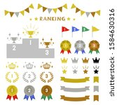 podium and ranking icon set | Shutterstock .eps vector #1584630316