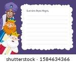 three wise men letter template... | Shutterstock .eps vector #1584634366