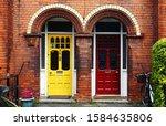 the perfect symmetry of doors | Shutterstock . vector #1584635806