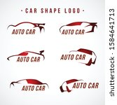 set of silhouettes concept cars ... | Shutterstock .eps vector #1584641713