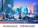smart city 5g online... | Shutterstock .eps vector #1584661660