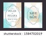 abstract watercolor wedding...   Shutterstock .eps vector #1584702019