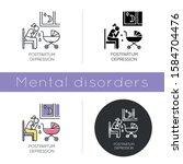 postpartum depression icon.... | Shutterstock .eps vector #1584704476