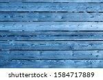 blue wooden planks wall texture ...   Shutterstock . vector #1584717889