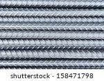 Steel Bars Close  Up Backgroun...