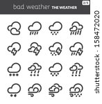 black icons about the weather.... | Shutterstock .eps vector #158472020