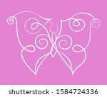 beautiful linear illustration... | Shutterstock .eps vector #1584724336